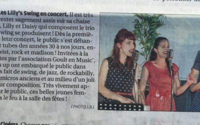 Concerts à Goult – la presse en parle