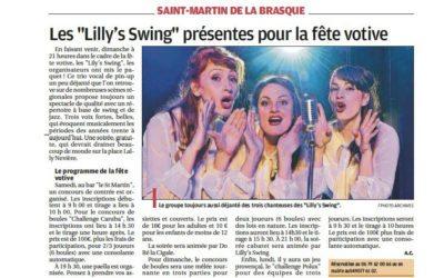 Et un article dans la Provence