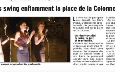 Le Dauphiné Sud Vauclause parle des Lilly's Swing